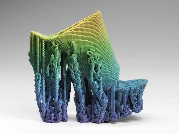 """Sapato """"Molecule"""", de Francis Bitonti Studio Inc. para: Adobe. Filamentos impressos em 3D usando Adobe Photoshop CC"""