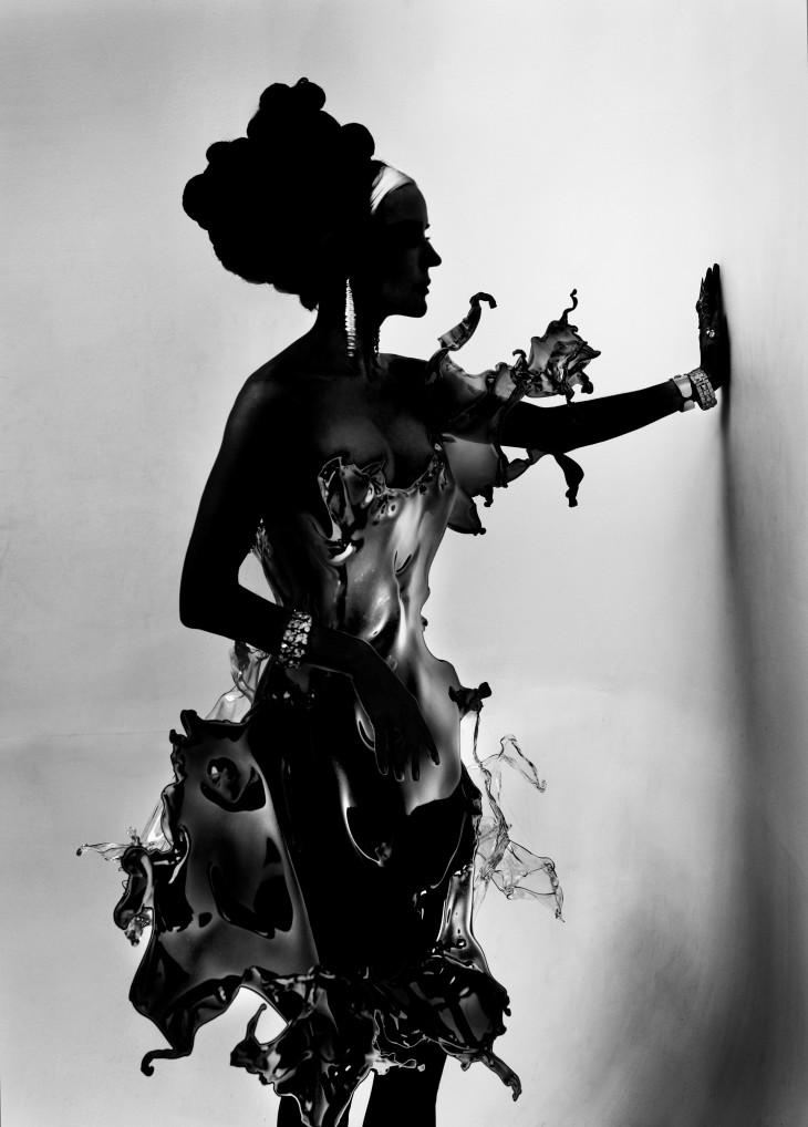 """Vestido """"Water Splash"""" , Iris van Herpen, 2013, acrílico"""